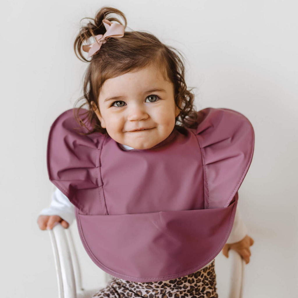 Waterproof Bib ~ Mauve ~ Snuggle Hunny Kids - Actually Boutique