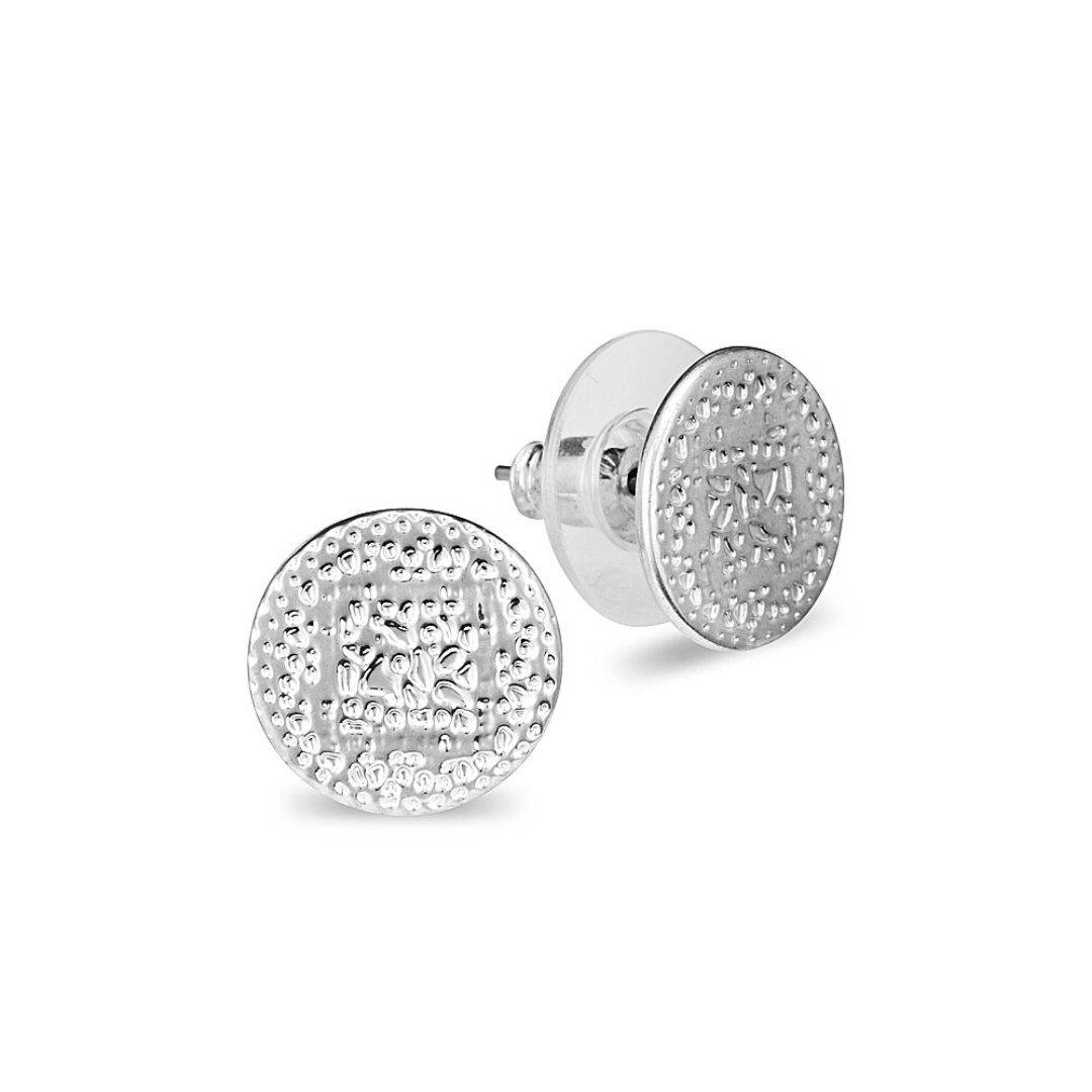 Allure Disc Earrings ~ Studs ~ Sterling Silver - Actually Boutique