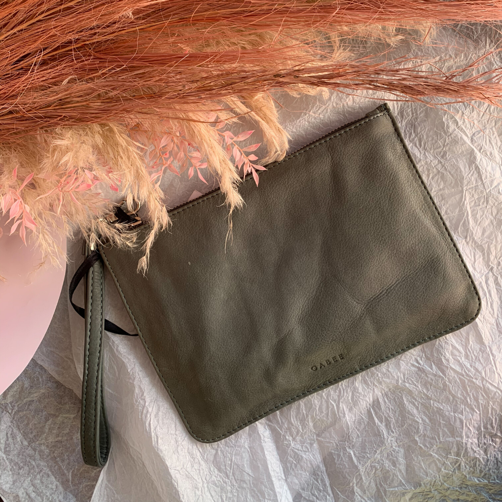 Queens Leather Pouch ~ Smoke - Actually Boutique