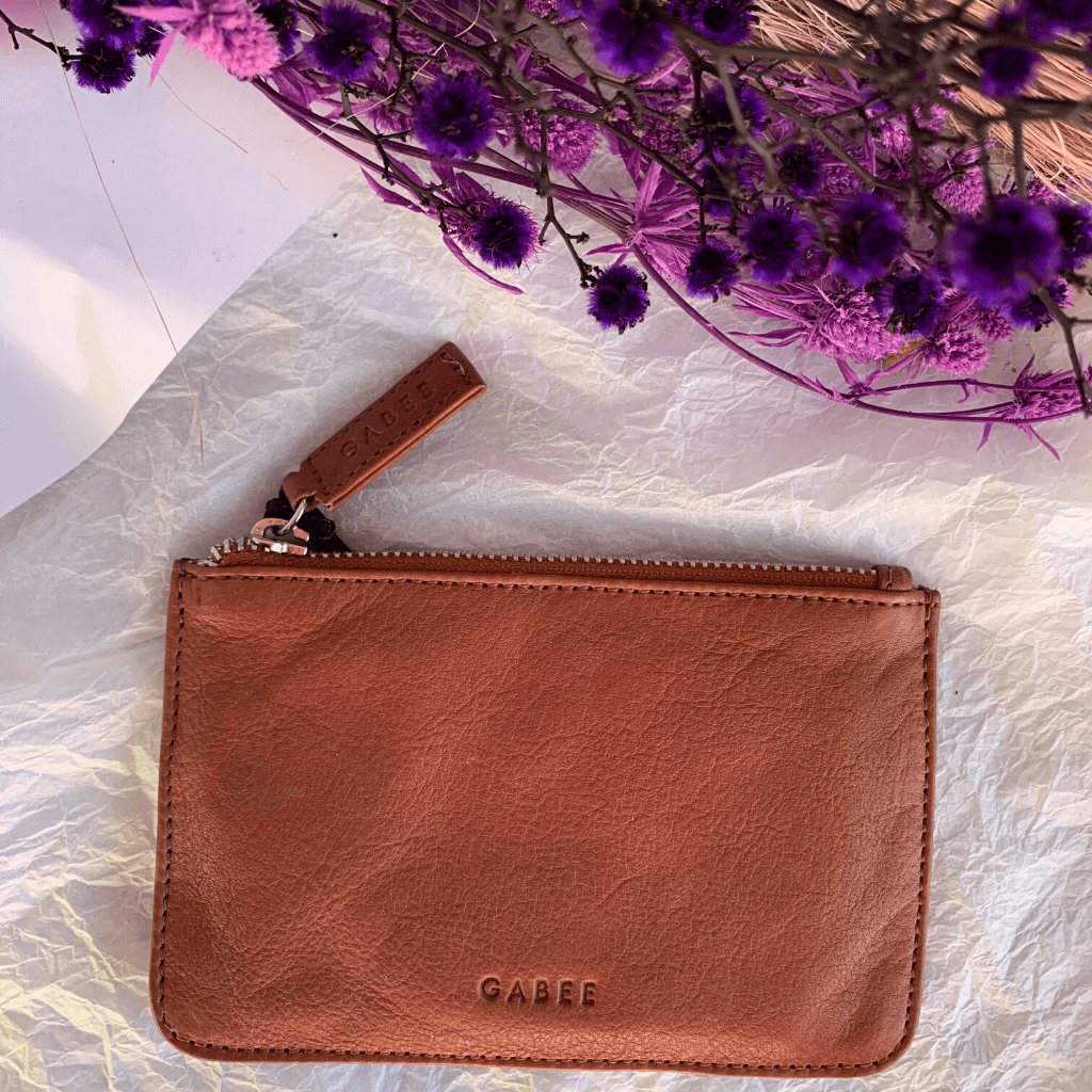 Village Leather Pouch ~ Clay - Actually Boutique