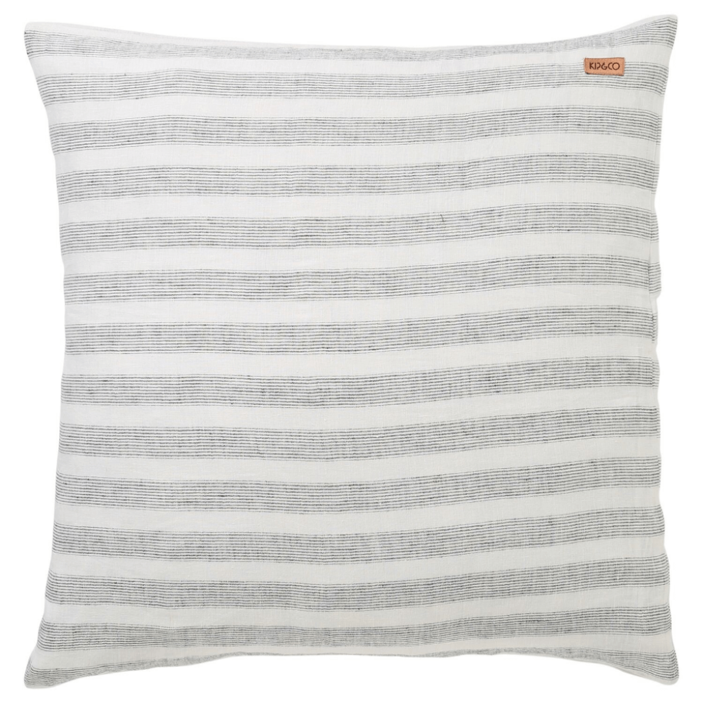 Linen Euro Cushion ~ Wrong Side of the Tracks ~ Kip and Co - Actually Boutique