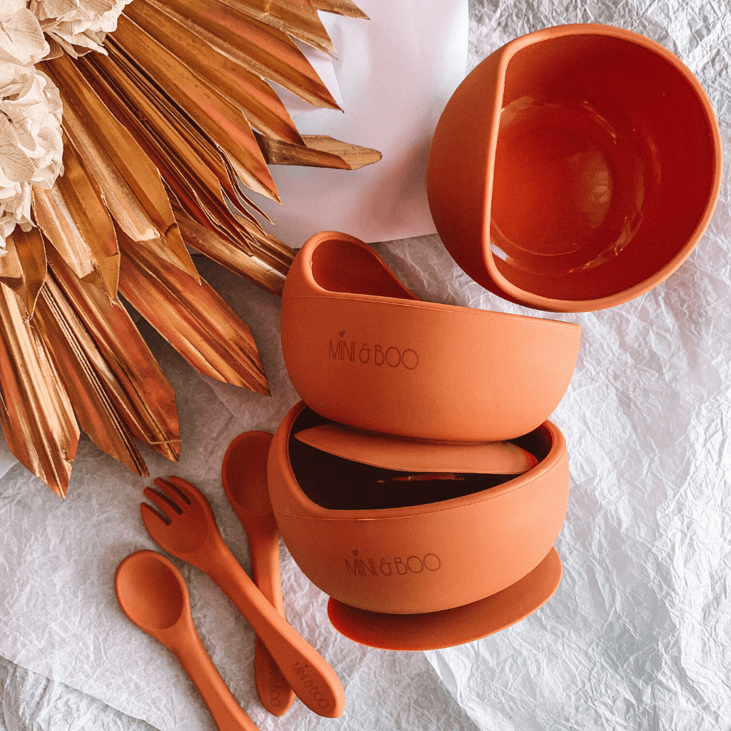 Silicone Suction Bowl Set ~ Terracotta ~ Mini and Boo - Actually Boutique