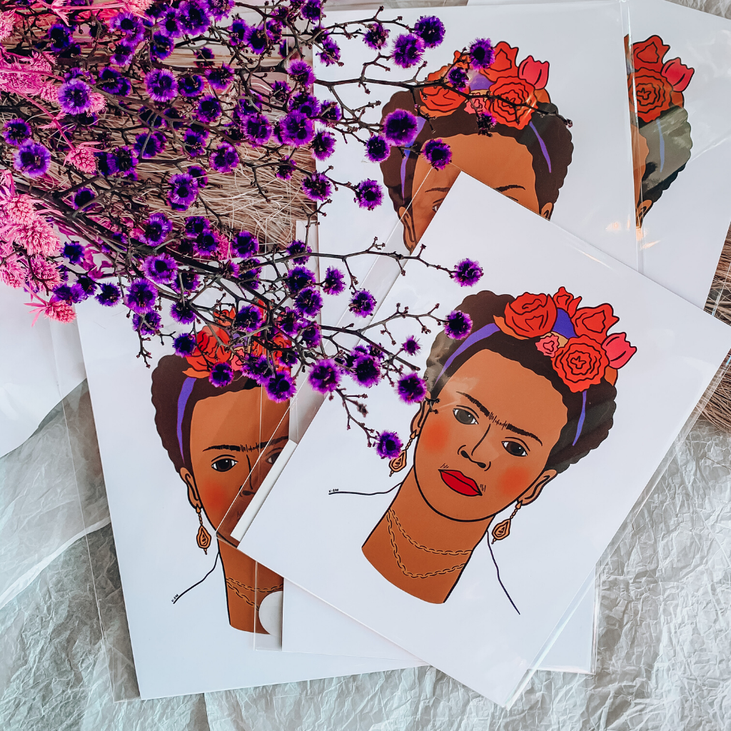 Frida Kahlo Print ~ K-Rae Designs - Actually Boutique