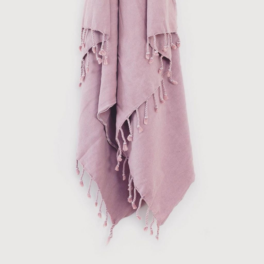 Turkish Towel/Throw ~ Dusty Lilac ~ One Fine Sunday Co - Actually Boutique