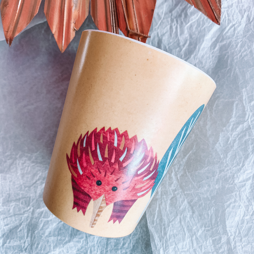 Bamboo Cup Set ~ Native Friends ~ Australiana - Actually Boutique
