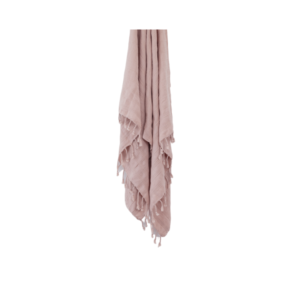 Stonewash Turkish Towel ~ Dusty Pink ~ One Fine Sunday Co - Actually Boutique