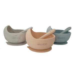 Silicone Suction Bowl Set ~ Powder Blue ~ Mini and Boo - Actually Boutique
