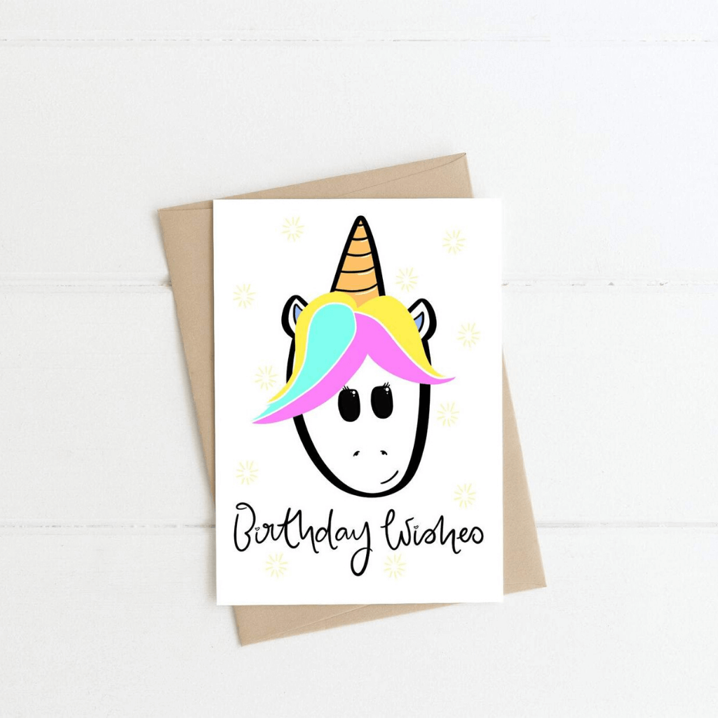 Unicorn ~ Greeting Card ~ K-Rae Designs - Actually Boutique