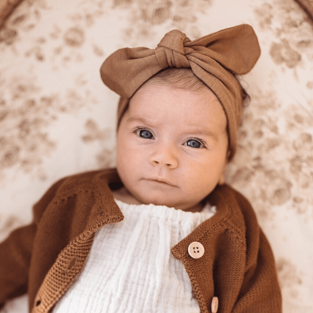 Topknot Baby Headband ~ Caramel ~ Snuggle Hunny Kids - Actually Boutique