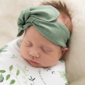 Topknot Baby Headband ~ Olive ~ Snuggle Hunny Kids - Actually Boutique
