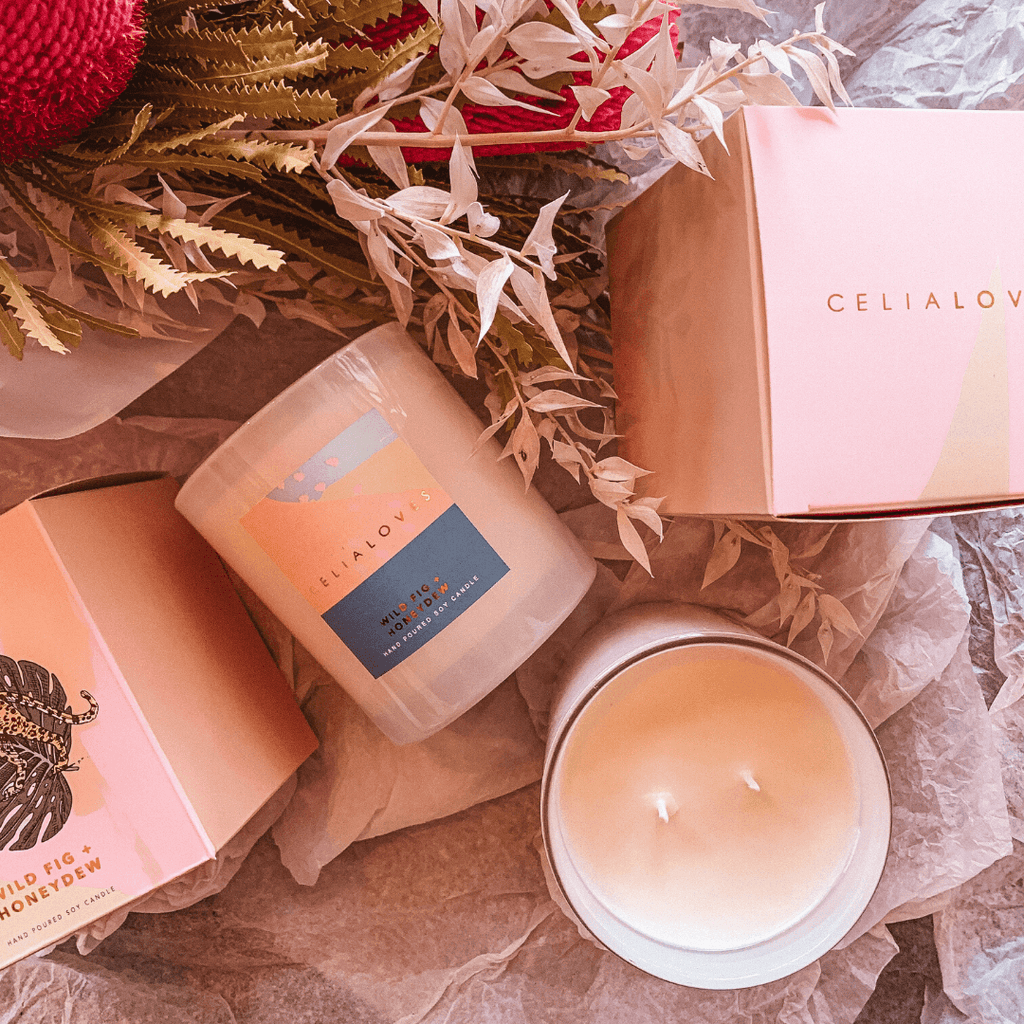 Wild Fig + Honeydew Scented Candle ~ Celia Loves - Actually Boutique