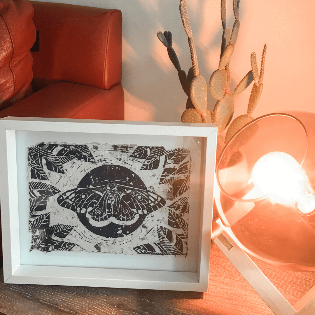 Moth To A Flame ~ Wooden Block Print ~ Cheersthanxalot - Actually Boutique