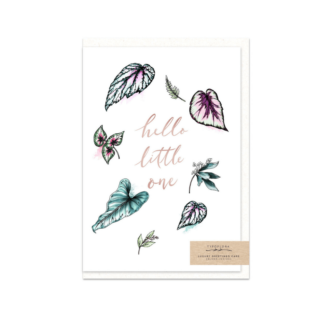 Hello Little One ~ Greeting Card ~ Typoflora - Actually Boutique