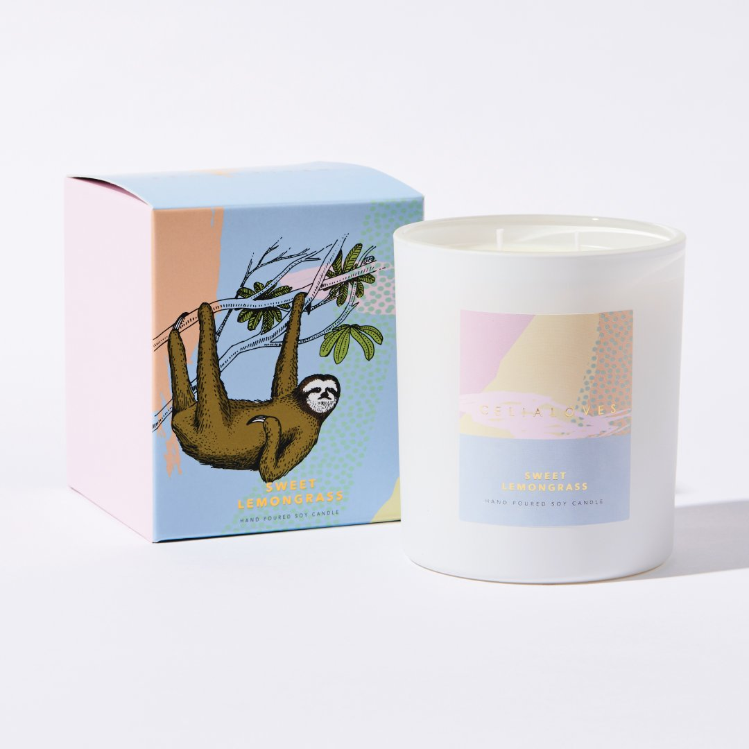 Sweet Lemongrass Scented Candle ~ Celia Loves - Actually Boutique