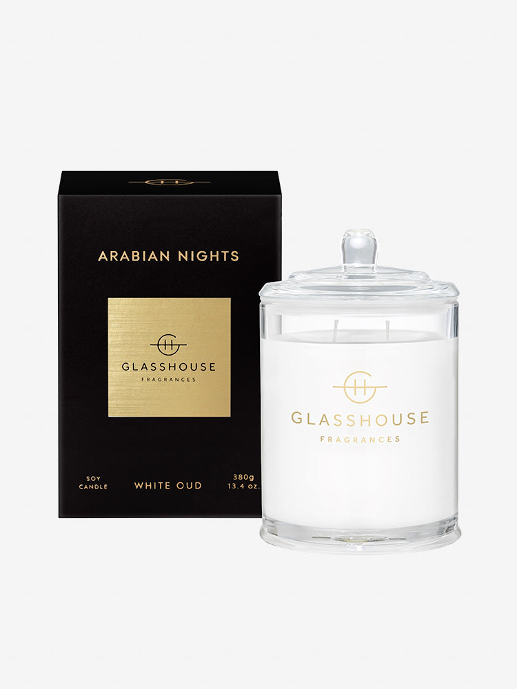 <b>Glasshouse Fragrances</b>  <br>Arabian Nights 380g Soy Candle