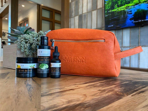 Toiletry Bag & Beard Grooming Set - Joe Finn Collection