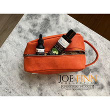 Load image into Gallery viewer, Leather Signature Toiletry Bag - Joe Finn Collection