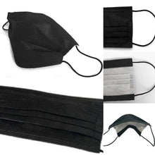 Load image into Gallery viewer, Black Disposable Face Masks 3-pack - Joe Finn Collection
