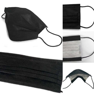 Black Disposable Face Masks 3-pack - Joe Finn Collection