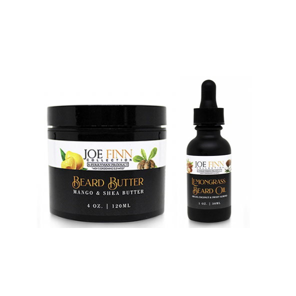 Mango and Shea Beard Butter & Lemongrass Beard Oil Set - Joe Finn Collection