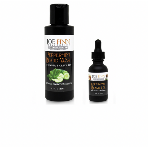 Peppermint Beard Wash and Lemongrass Beard Oil Set - Joe Finn Collection