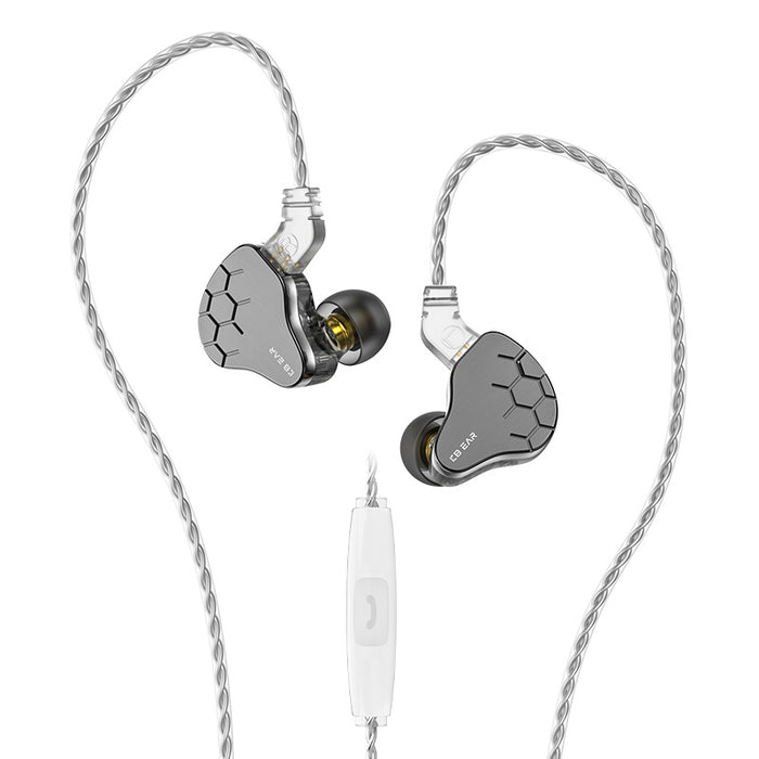 2020 KBEAR Lark 1BA+1DD In Ear Earphone Hifi Headset Sport Music Earbuds With 0.78mm Pin 4N Silver-Plated Cable KS2 S1