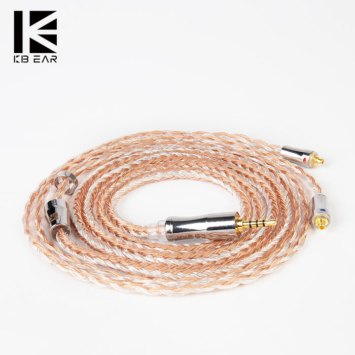 KBEAR Expansion 24 Cores 4N Silver Plated Upgrade Cable with MMCX/2PIN/QDC/TFZ Connector Use For KBEAR LARK KS1