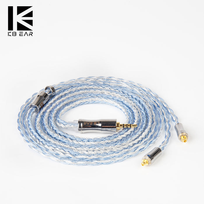 KBEAR Expansion 24 Cores 4N Silver Plated Upgrade Cable with MMCX/2PIN/QDC/TFZ Connector Use For KBEAR KS1 BLON BL03