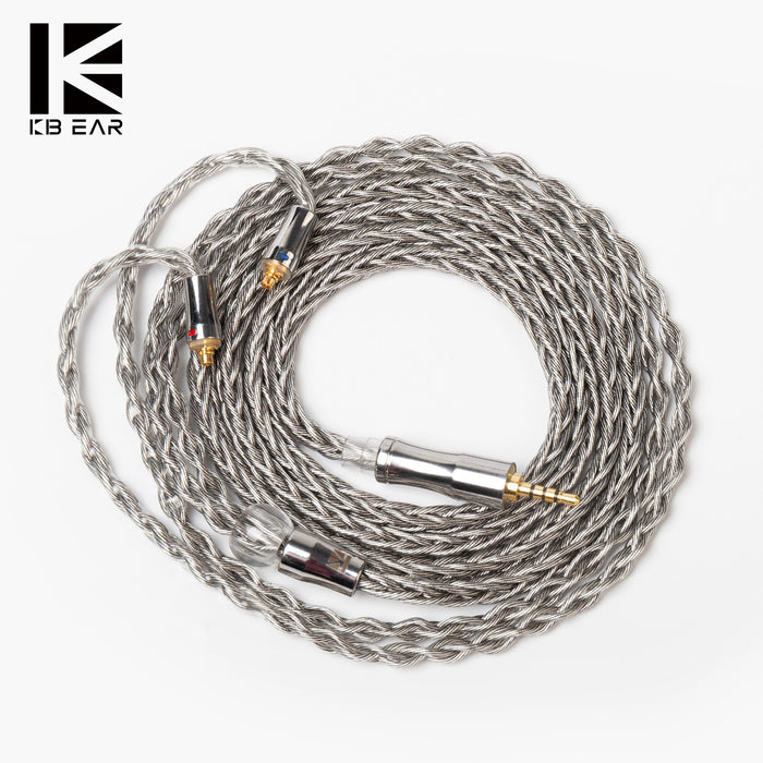 KBEAR Wide 8 core Graphene Single Crystal Copper Plated with Silver Cable with MMCX/2PIN Connector Used for  BLON BL03 BL01 KBEAR KB04 TRI I3