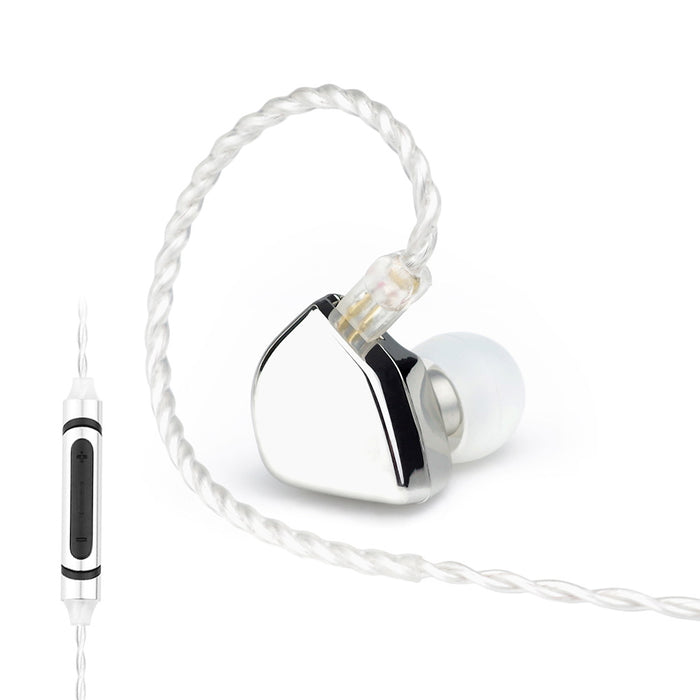 HZSOUND Heart-Mirror-Silver with mic