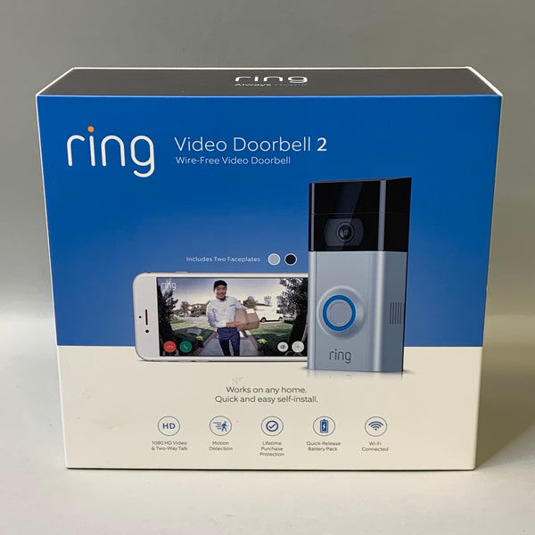 *NEW* Ring Video Doorbell 2 - Satin Nickel/Venetian Bronze