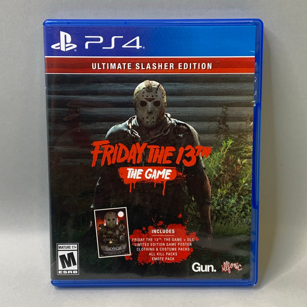 Friday the 13th: The Game - Ultimate Slasher Edition (Sony PlayStation 4, 2017) *No DLC'S*