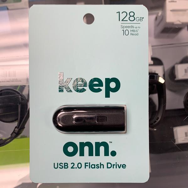 New! Onn USB 2.0 Flash Drive 128GB Storage Stick PC/MAC