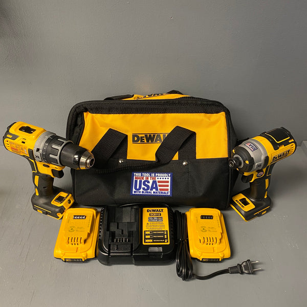 DeWalt DCK283D2 20V Max XR Brushless Compact Drill/Driver 3-Speed Impact Driver Combo Kit