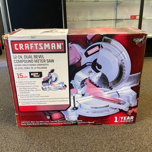 "*NEW* Craftsman 937564 12"" Dual Bevel Compound Miter Saw"