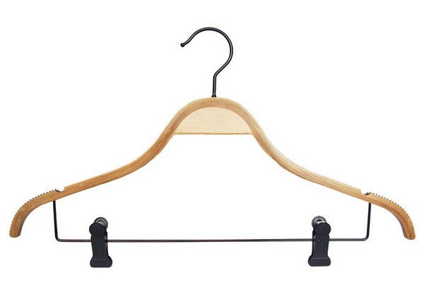 Swoopie Bamboo Hanger with Clips (100)