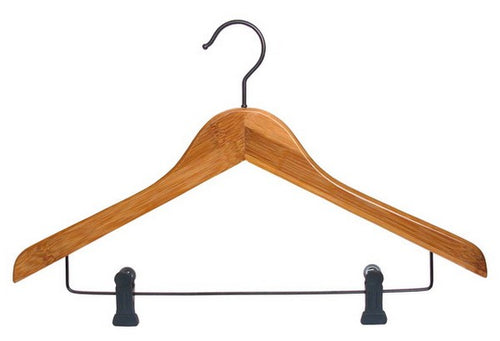 Bamboo Hanger - Traditional with Clips - Amber (25)