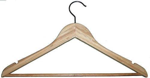 Bamboo Hanger - Traditional with Bar - Amber (100)
