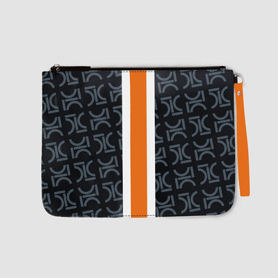Monogram Pouch Mandarin Orange 212 & Co.