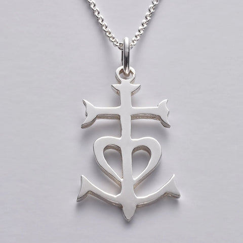 Camargue Cross pendant in sterling silver