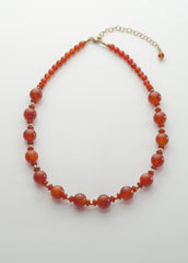 Carnelian Necklace (heat treated) with vermeil