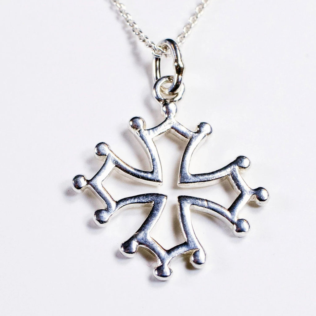 Cathar Cross pendant in sterling silver