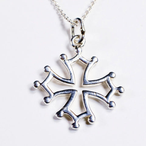 MAG 5 SS: Cathar Cross pendant in sterling silver (wholesale)