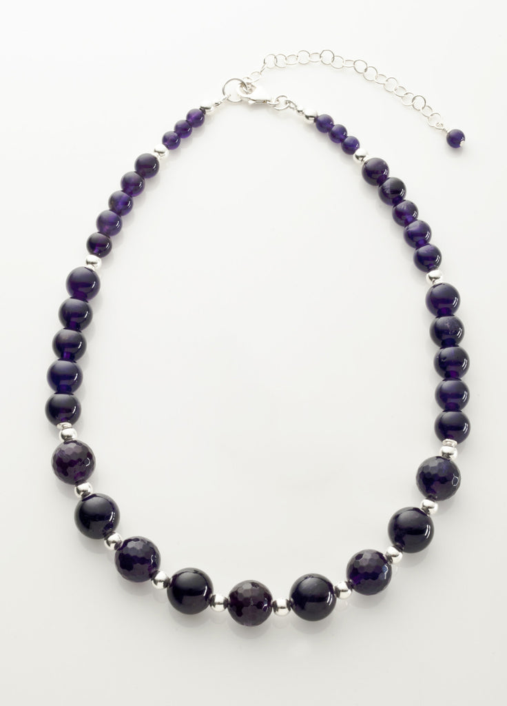 Amethyst (Deep) Necklace with Sterling Silver