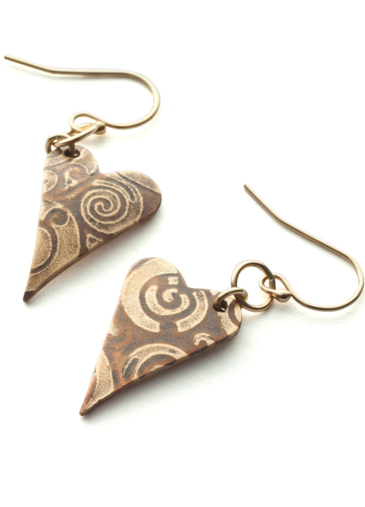 Heart earrings: Inlay 2