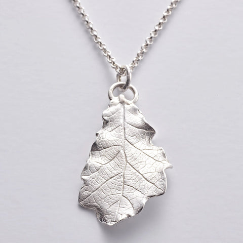 MAG 1 SS: Magdalene oak leaf pendant in sterling silver (wholesale)