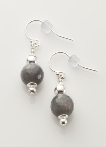 Labradorite Earrings with Sterling Silver