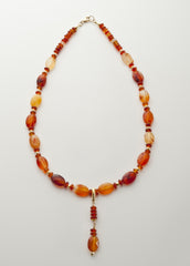 Carnelian Necklace (untreated) with Vermeil