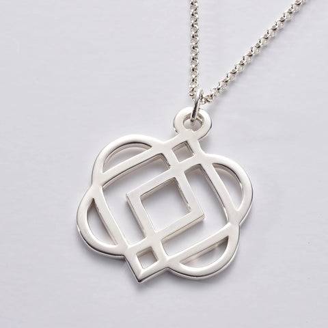 ONS 2 SS: Sterling Silver LARGE 'ONENESS' Pendant & Chain (wholesale)