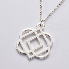 ONENESS Large Silver Pendant & Chain